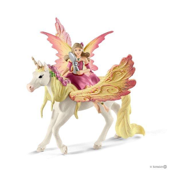 Schleich : Fairy Feya with Pegasus Unicorn