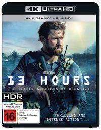 13 Hours: The Secret Soldiers of Benghazi (4K UHD + Blu-ray) on Blu-ray, UHD Blu-ray