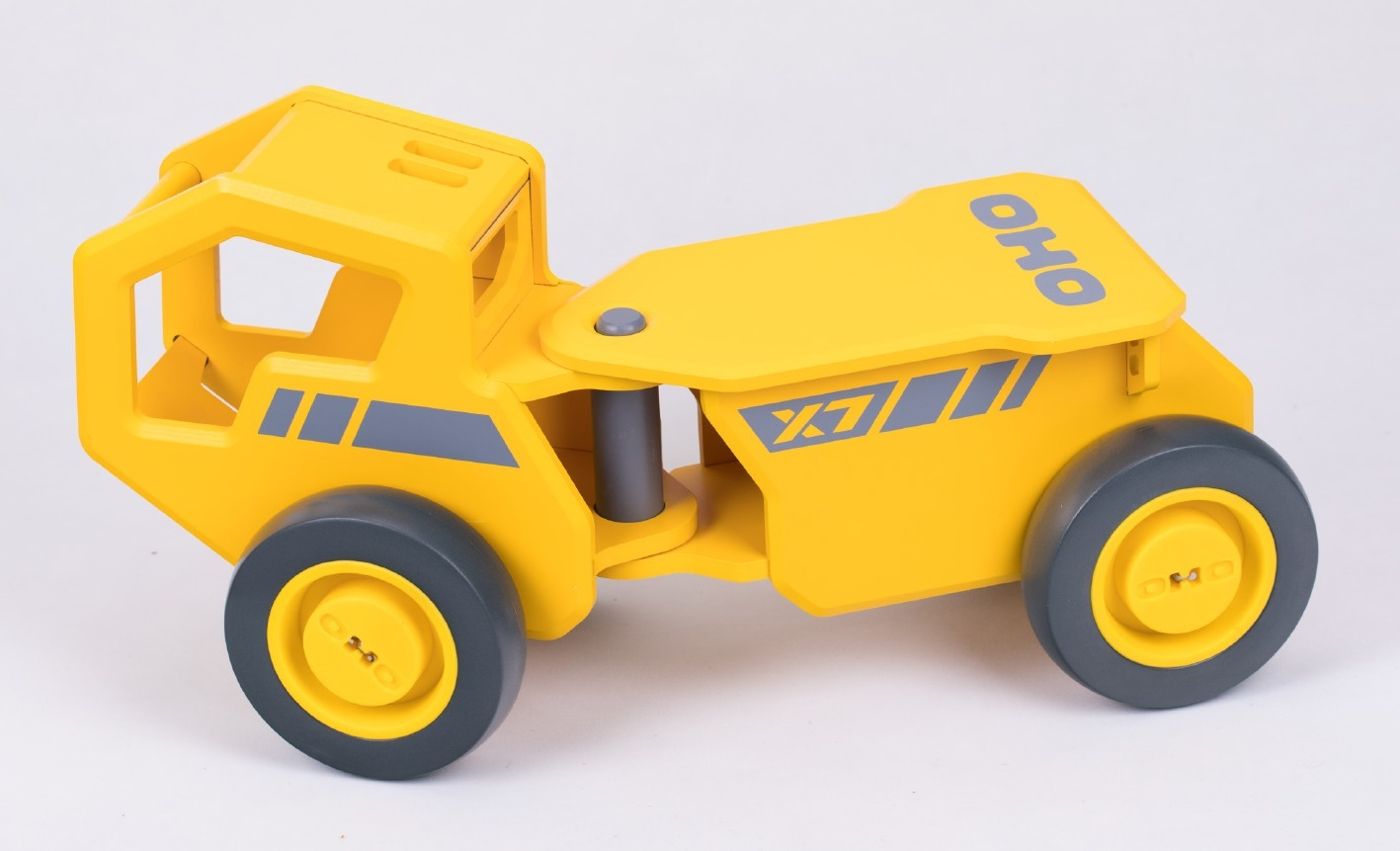 moover oho: yellow construction truck - wooden vehicle