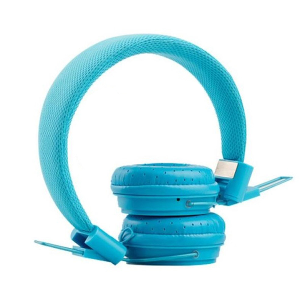 Music On-Ear Earphones with Microphone - Blue image