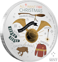 NZ Mint: Harry Potter Season's Greetings - All I Want for Christmas - Silver Coin (1oz Silver)