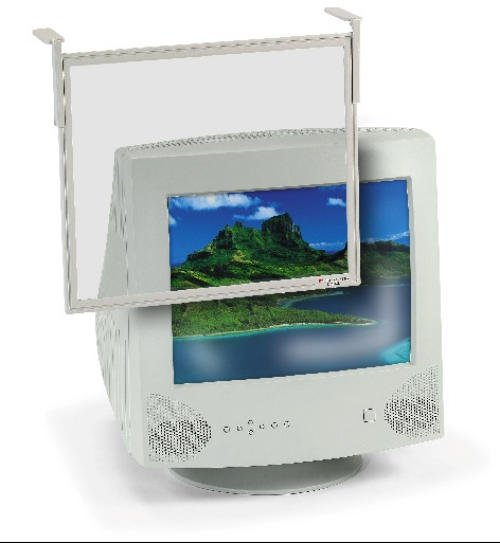 "3m AF100XL Computer Screen Filter  Monitor size 16""-19""   95% Antiglare  Antistatic  Contrast  enhancement  with Flat Frame image"