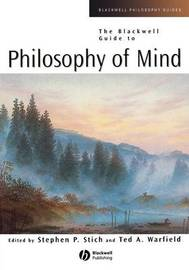 The Blackwell Guide to Philosophy of Mind by Stephen P Stich image