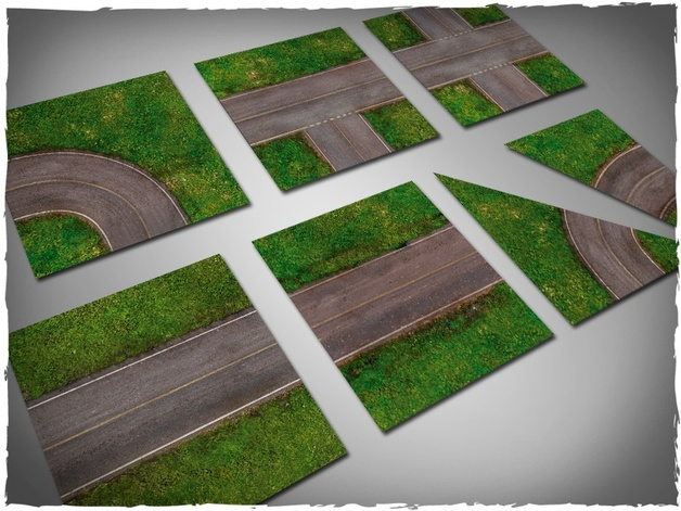 DeepCut Studios tarmac highway Tiles Set