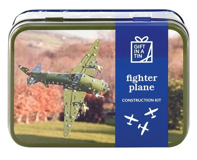 Apples To Pears: Fighter Plane in a Tin - Metal Construction Kit