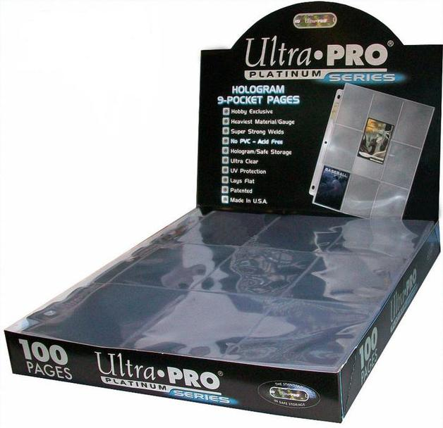 Ultra Pro 9 Pocket Hologram Platinum Box (100 pages)