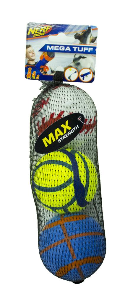 Nerf Dog Non Squeak Sports Balls 3pk image