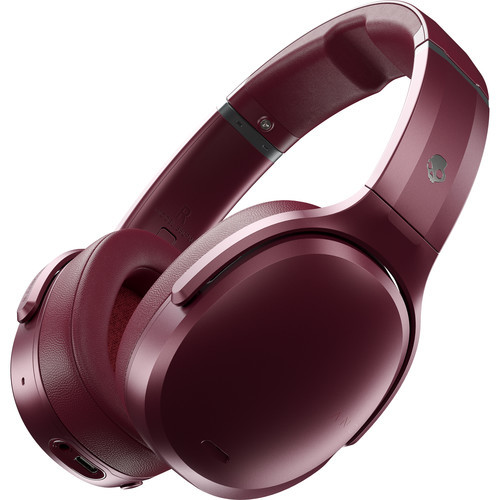 Skullcandy: Crusher ANC - Wireless Over-Ear Headphones (Deep Red)