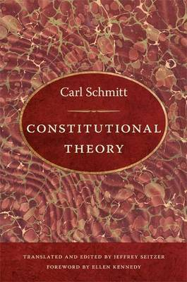 Constitutional Theory by Carl Schmitt image