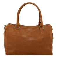 Isoki: Double Zip Satchel Bag - Amber