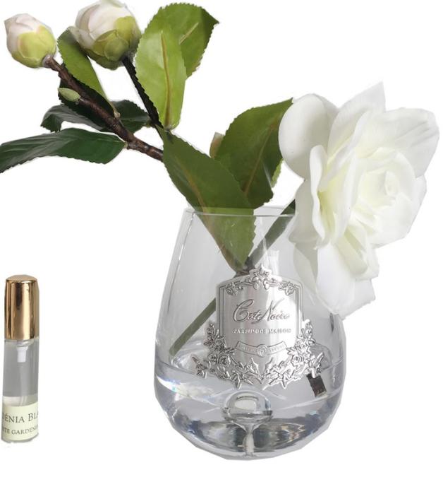 Cote Noire: Teardrop Gardenias Clear with Fragrance spray