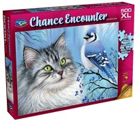 Holdson: 500-Piece XL Puzzle - Chance Encounter (Blue Winter Friend)