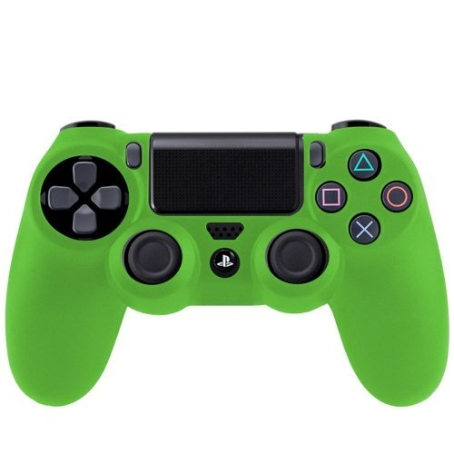 Silicone Protective Case PS4 Game Controller (Green) | PS4 ...