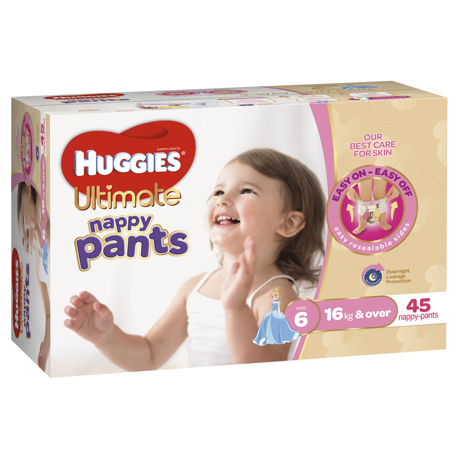 Huggies Ultimate Nappy Pants: Jumbo Pack - Junior Girl 16kg+ (45) image