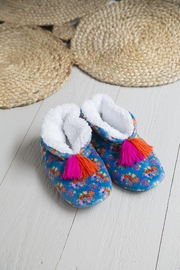Natural Life: Cozy Slippers - Blue Floral (Large)