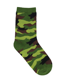 Kid's (7-10 Years) Hide And Seek Crew Socks - Green