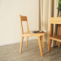 Arvid Natural Solid Wood Dining Chair - Set of 2