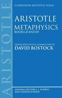Metaphysics Books Z and H by * Aristotle image