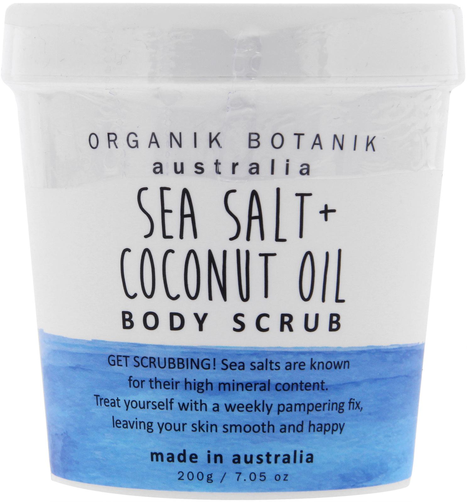 Organik Botanik Body Scrub Tub - Sea Salt & Coconut Oil (200gm) image