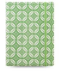 Filofax - Pocket Notebook - Impressions (Green & White)