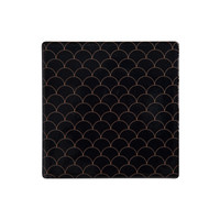 Maxwell & Williams Tessellate Ceramic Square Tile Coaster - Neptune Black (9.5cm)
