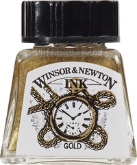 Winsor & Newton: Drawing Ink - Gold 283 (14ml)