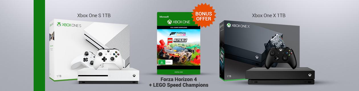 Xbox console + lego