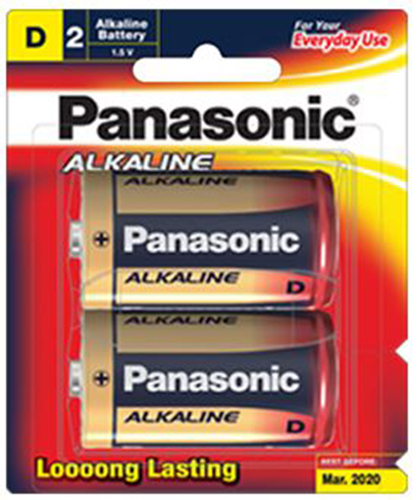 Panasonic Alkaline Size D Batteries - 2 Pack