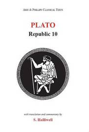 Plato: Republic X by S Halliwell image