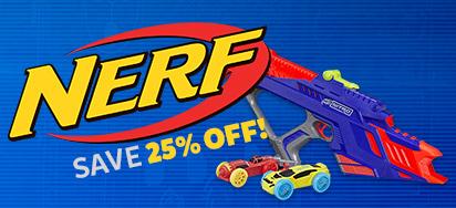 25% off Nerf
