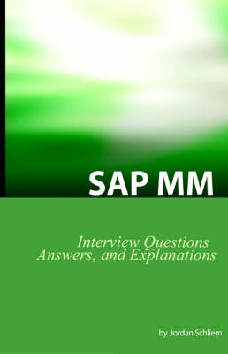 SAP MM Certification and Interview Questions by Jordan Schliem image