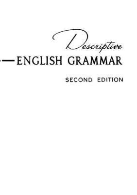 Descriptive English Grammar by Susan Emolyn Harman image