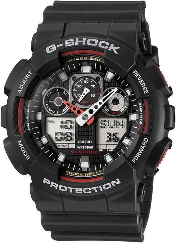 Casio Shock resistant G-Shock GA100-1A4
