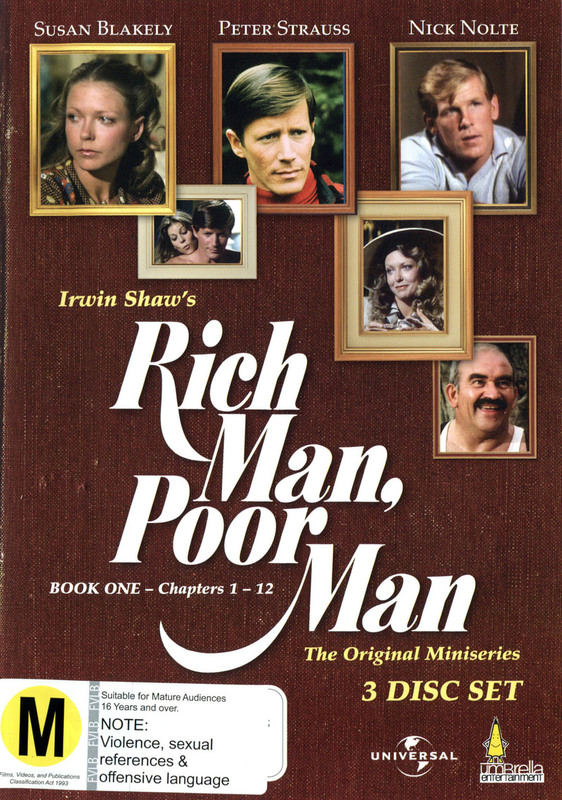 Rich Man, Poor Man - Book One: Chapters 1-12 (3 Disc Box Set) on DVD