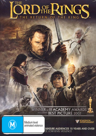 The Lord of the Rings - The Return of the King on DVD image