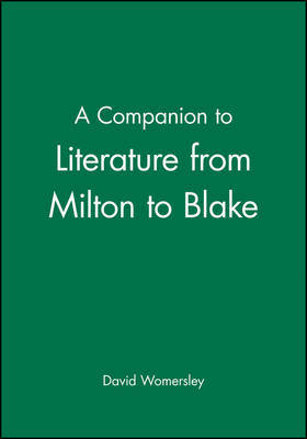 A Companion to Literature from Milton to Blake image