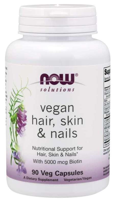 Now Foods Vegan Hair Skin + Nails (90 Vege Caps)