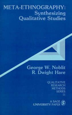 Meta-Ethnography by George W. Noblitt