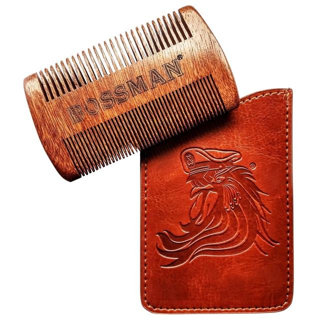 Bossman: Pocket Sandalwood Beard/Moustache Comb