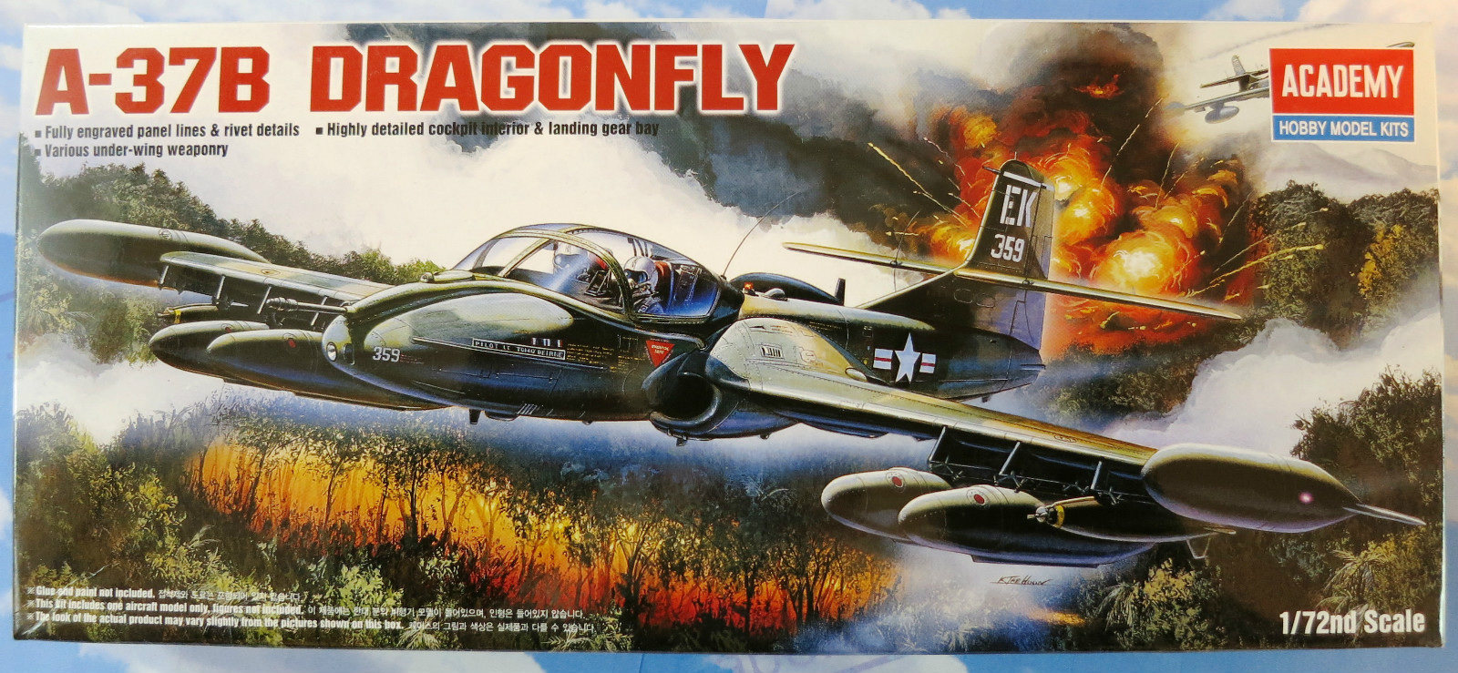 Academy A-37B Dragonfly 1/72 Model Kit image