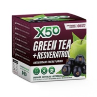 Green Tea X50 + Resveratrol - Appleberry (60 sachets)