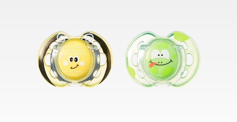 Closer to Nature Fun Style Soother: 0-6 Months (Bee & Frog) image