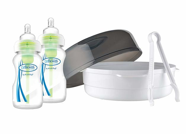 Dr Brown's: Options Microwave Steriliser Wide Neck Bottles (270 ml, Pack of 2)