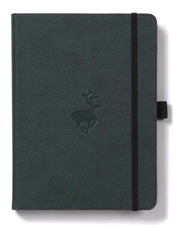Dingbats Wildlife: A5 Green Deer Notebook - Plain