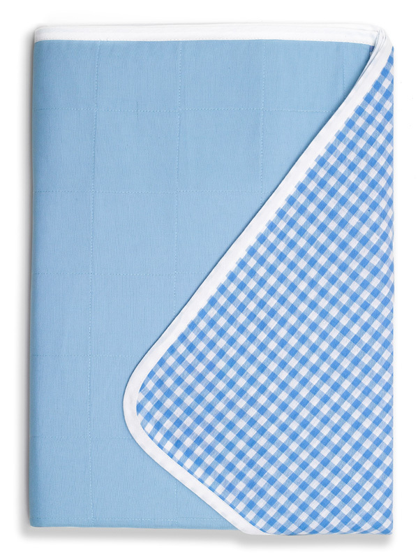 Brolly Sheets Single Size Sheet Bed Pad - Blue
