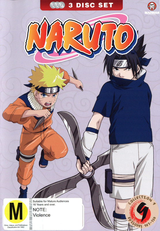 Naruto (Uncut) Collection 09 (Eps 107-120), on DVD