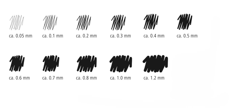Staedtler - Marsgraphic Pigment Liner - Pack of 6 image