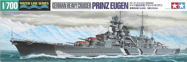 Tamiya 1/700 Prinz Eugen Ger Heavy Cruiser - Model Kit