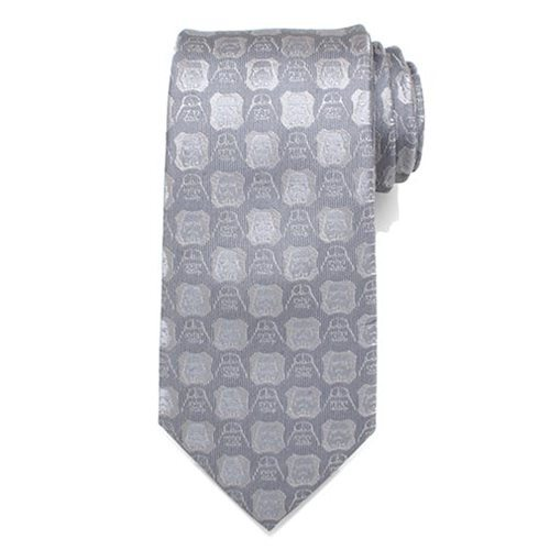 Star Wars: Darth Vader & Stormtrooper - Grey Mens Silk Tie image