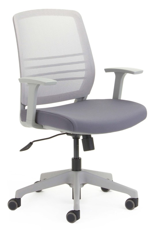 CS Cobi Grey Frame, Mesh and Seat with Fixed Arms